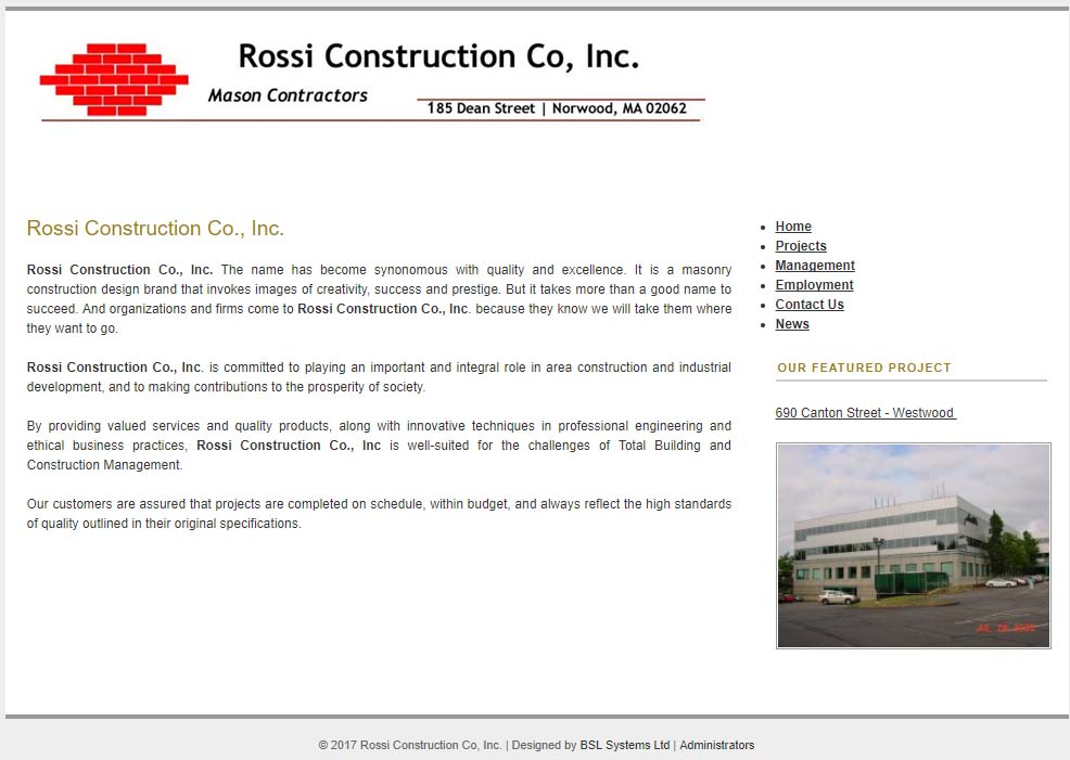 Rossi Construction Co